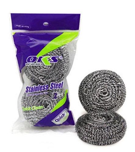 OKS Stainless Steel Scrubber Pack of 2