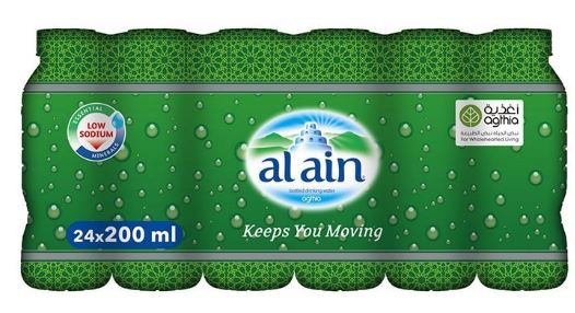 Al Ain Bottled Drinking Water 200ml Pack of 24