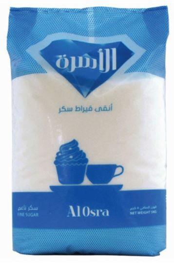 Al Osra Fine White Sugar 5Kg