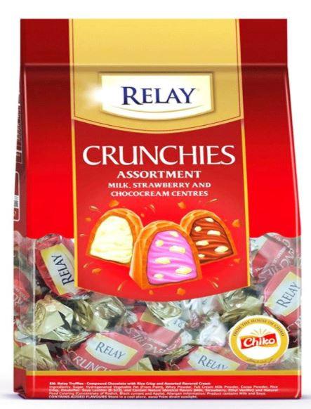 Relay Crunchies Crispy Strawberry Cream 400g