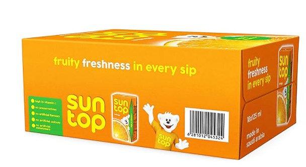 SunTop Orange Drink 125ml x Pack of 18