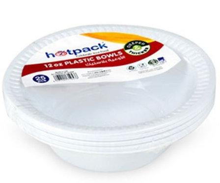Hotpack Plastic Bowl White 12oz