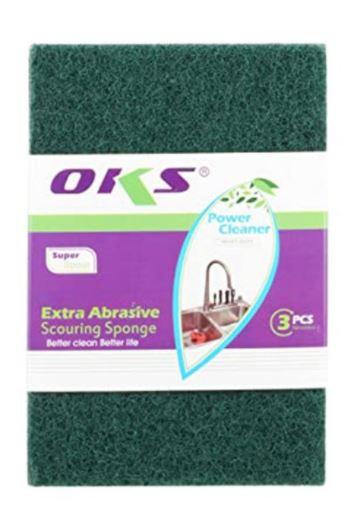 OKS Dish Washing Scourer Scouring Pads 10 Pieces