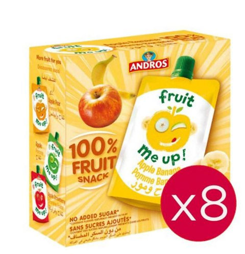 Andros Fruit Me Up Apple Banana 90g Pack Of 8