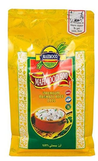 Mahmood 500 Premium 1121 Basmati Rice 1kg