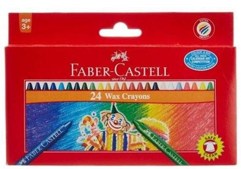 Faber Castell 24-Piece Jumbo Wax Crayon Round