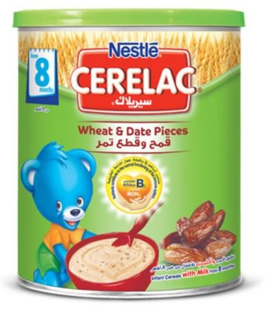 Nestle Cerelac Wheat & Date Pieces Cereal 400g