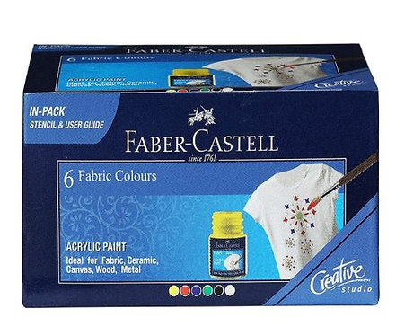 Faber-Castell Fabric Color Pack of 6