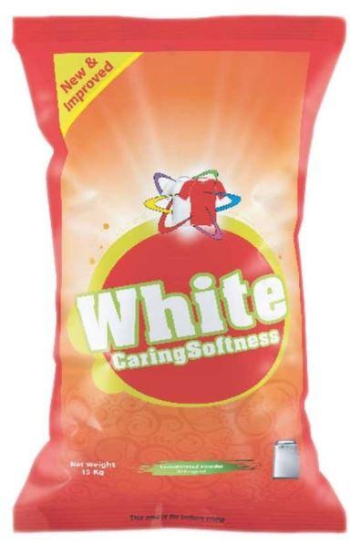 White Caring Softness Detergent Powder 15kg