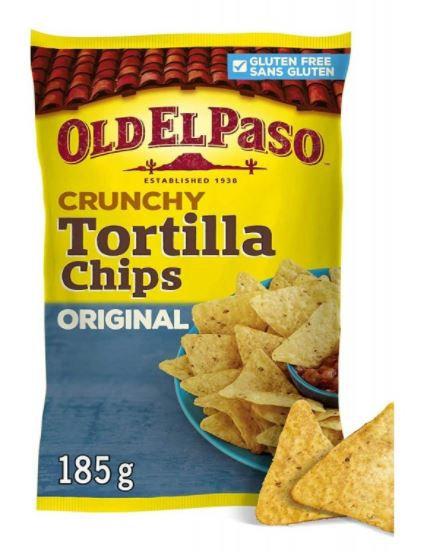 Old El Paso Crunchy Tortilla Chips 185g