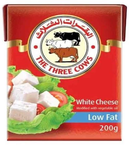 The Three Cows White Cheese Low Fat 200g