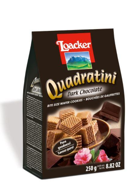 Loacker Quadratini Wafer Dark Choco 125g