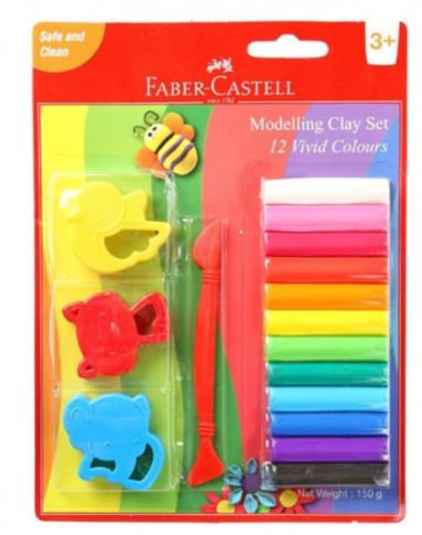 Faber Castell 12-Colours Modelling Clay 150g
