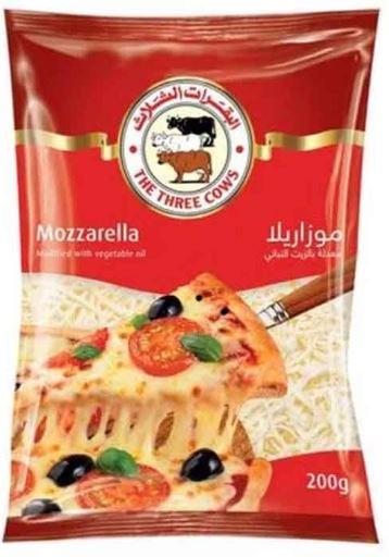 Three Cows Shredded Mozzarella Cheese 200g