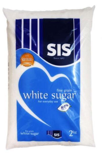 SIS Fine White Sugar 2kg Packet