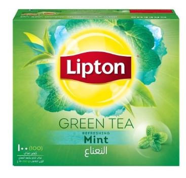 Lipton Green Tea Mint 100 Tea Bags