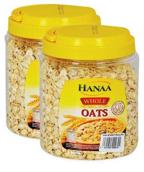 Hanaa White Oats 500g Pack of 2, OFFER