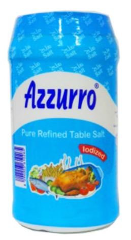 Azzurro Pure Refined Iodized Salt Bottle 700g