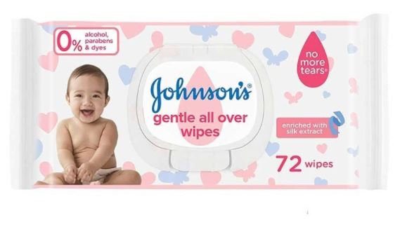 Johnsons Baby Wipes Pack of 72