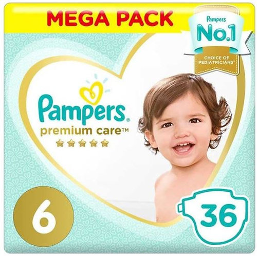 Pampers Premium Care Diapers Size 6,15+ Pack of 2