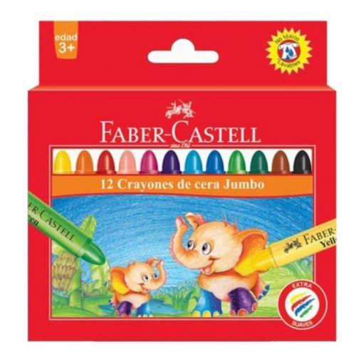 Faber Castell 12-Piece Jumbo Wax Crayon Round