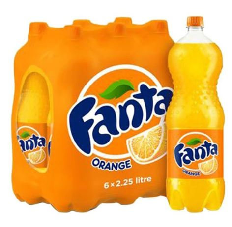 Fanta Orange Soft Drink 2.25L Pack of 6