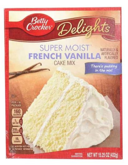 Betty Crocker Super Moist French Vanilla Mix 500g
