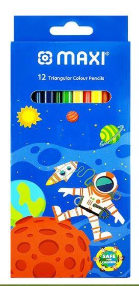Maxi 12pcs Triangular Colour Pencils