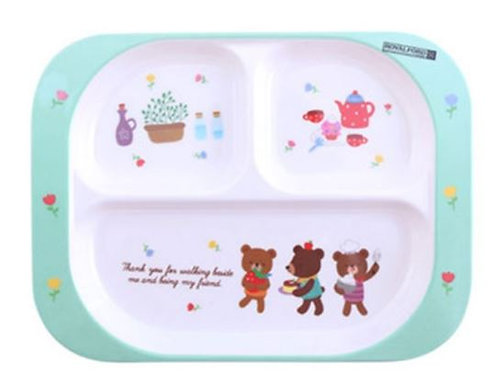 Royalford Melamine 3-Section Baby Plate