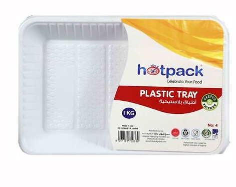 Hotpack Rectangle Plastic Tray No.4