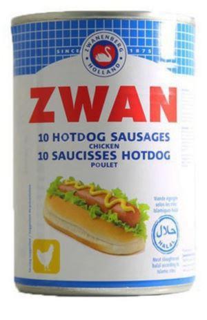 Zwan Hotdog Chicken Sausages 400g