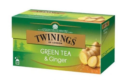 Twinings Green Tea Ginger 25 Tea Bags