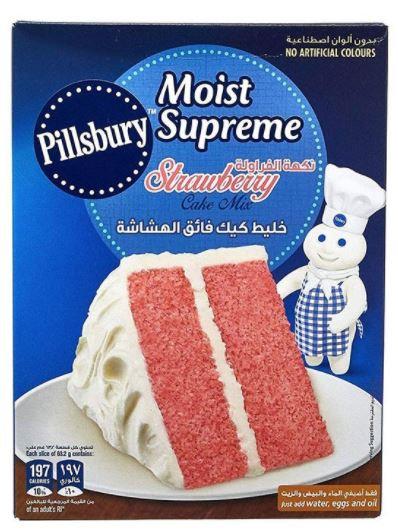 Pillsbury Moist Supreme Strawberry Cake Mix 350g