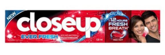 Closeup Toothpaste Ever Fresh Red Hot 120ml