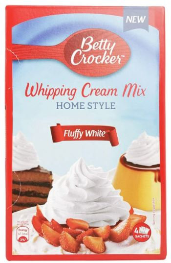 Betty Crocker Whipping Cream Fluffy White 140g