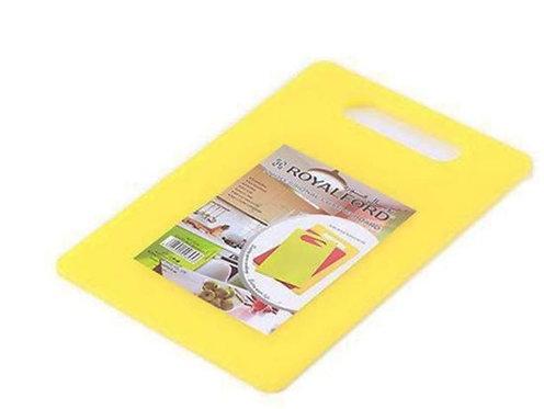 Plastic Cutting Board Yellow Plain