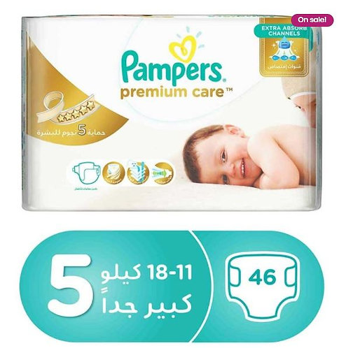 Pampers Premium Diapers Size 5, 11-18 kg