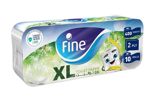 Fine Toilet Paper 400 sheets Pack of 10