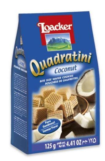 Loacker Quadratini Wafer Coconut 125g