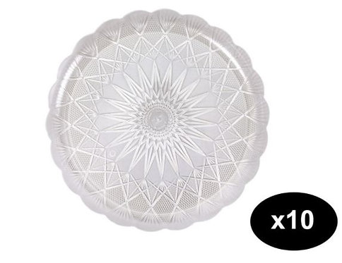 Falcon Crystal Plate 33cm Pack of 10