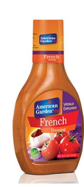 American Garden French Dressing 9oz