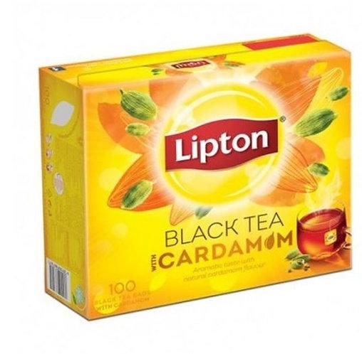 Lipton Flavoured Black Tea Cardamom 100 Tea Bags