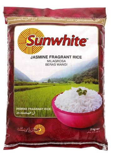 Sunwhite Jasmine Fragrant Rice 5kg