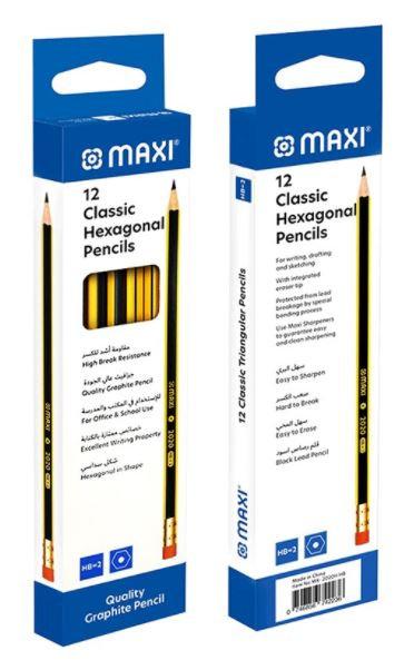 Maxi Classic Black Lead Hexagonal Pencils