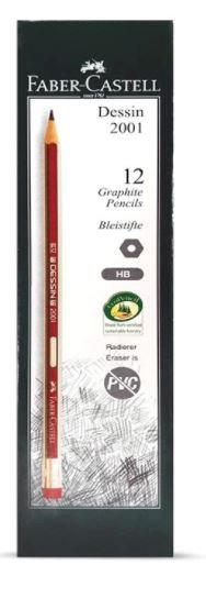 Faber Castell 12-Piece Dessin Black Lead Pencil