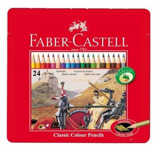 Faber Castell 24-Pieces Classic Colour Pencil Box