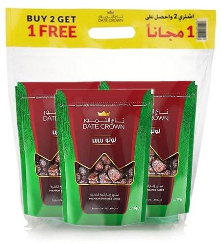Date Crown Lulu 500g BUY 2 GET 1 FREE