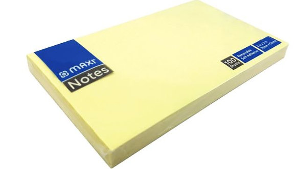 Maxi Sticky Notes Pastel Yellow 100 Sheets Each