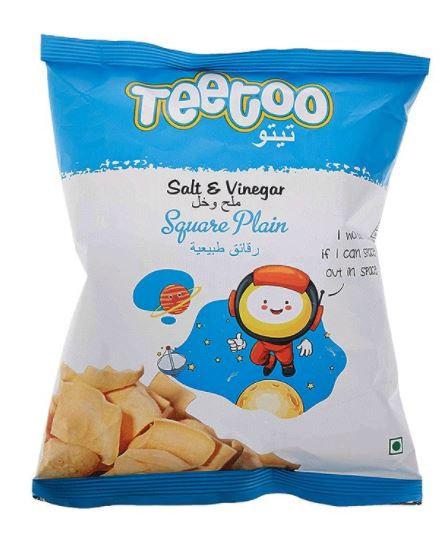 Teetoo Salt & Vinegar Square Plain Chips 16g