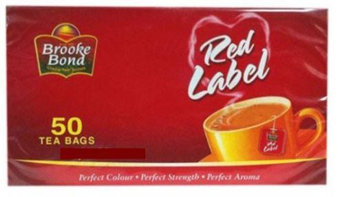 Brooke Bond Red Label Black Tea Bag 50 Tea Bags